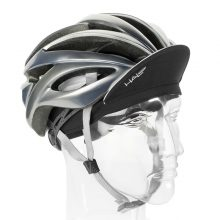 White Cycling Cap Up with Helmet