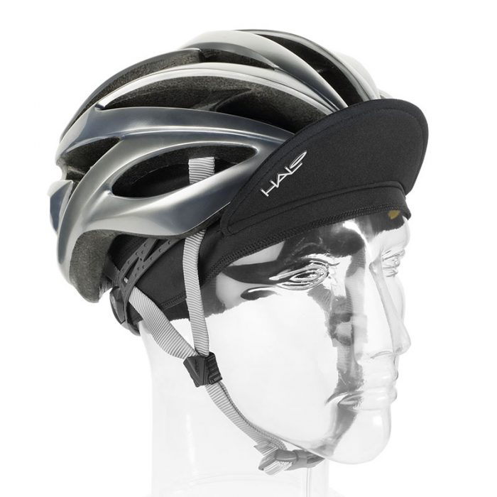 Black Cycling Cap Up with Helmet