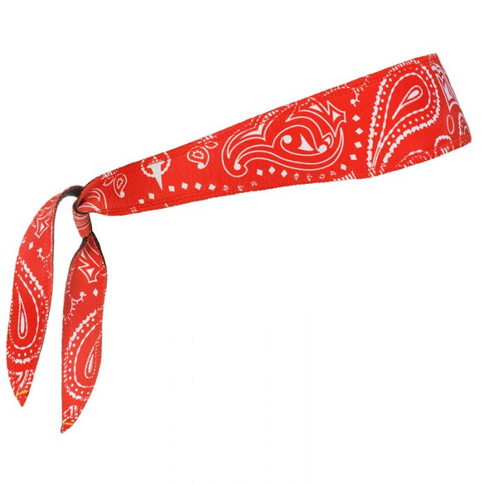 Red Paisley Halo I Headband