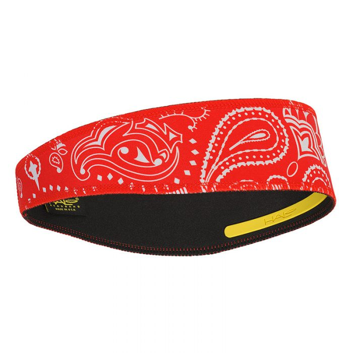 Red Paisley Halo II Headband