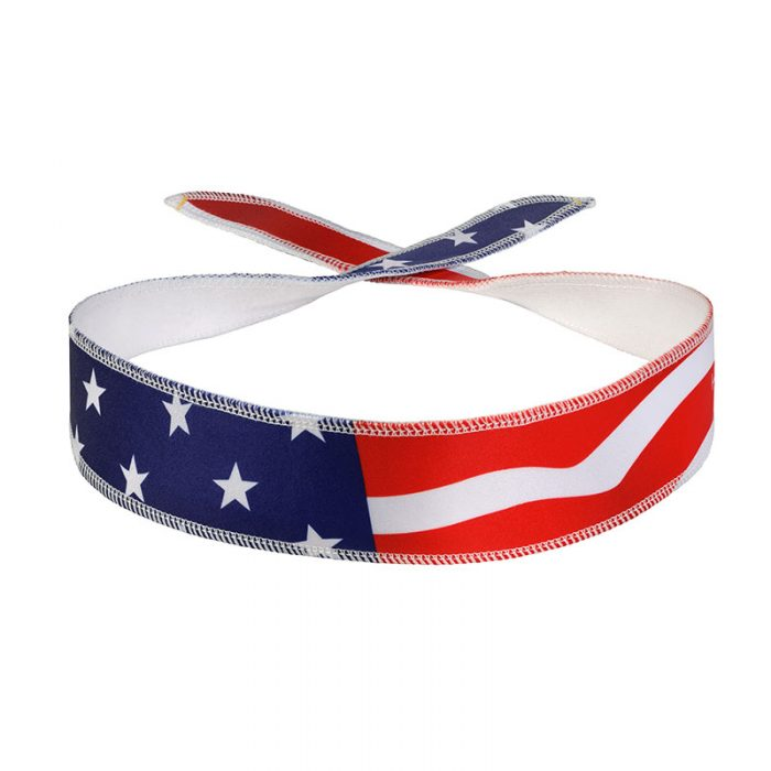 USA Flag Halo I Headband front view