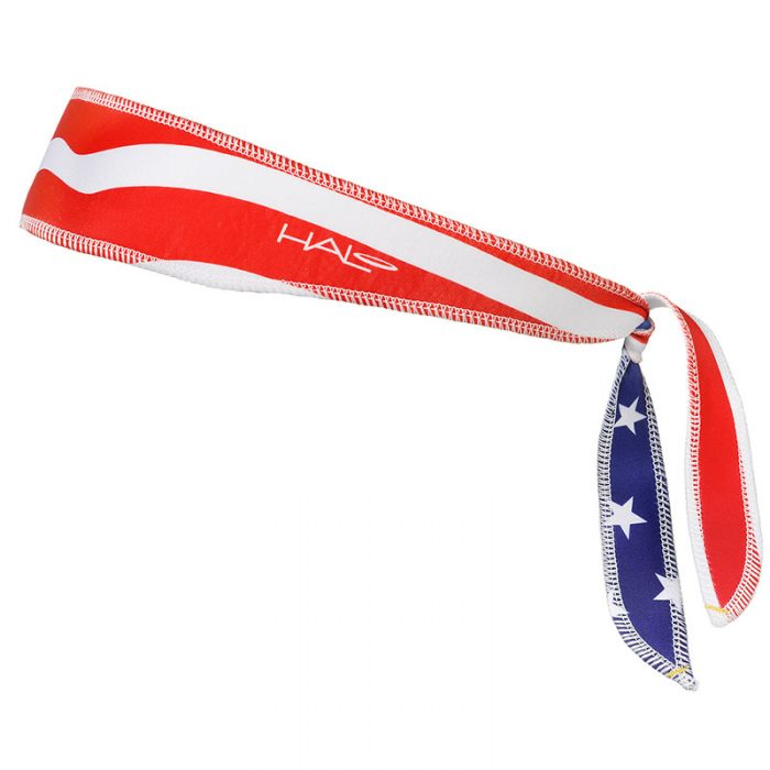 USA Flag Halo I Headband left side