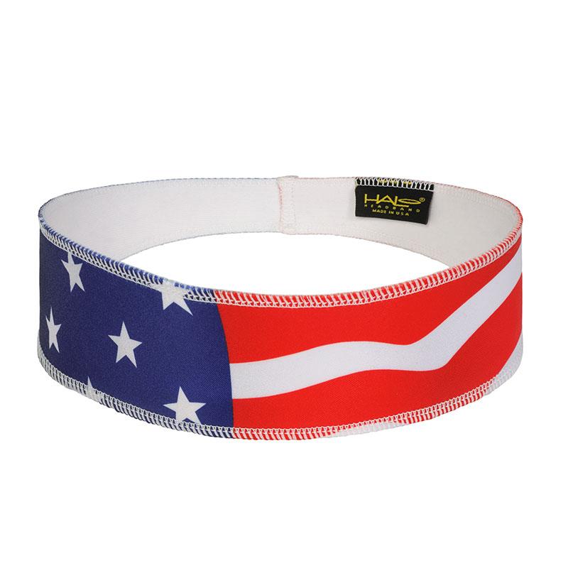USA Flag Halo II Headband Frony View