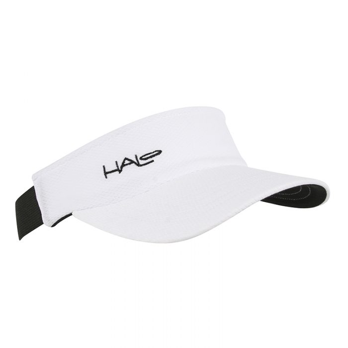 White Race Visor Front View